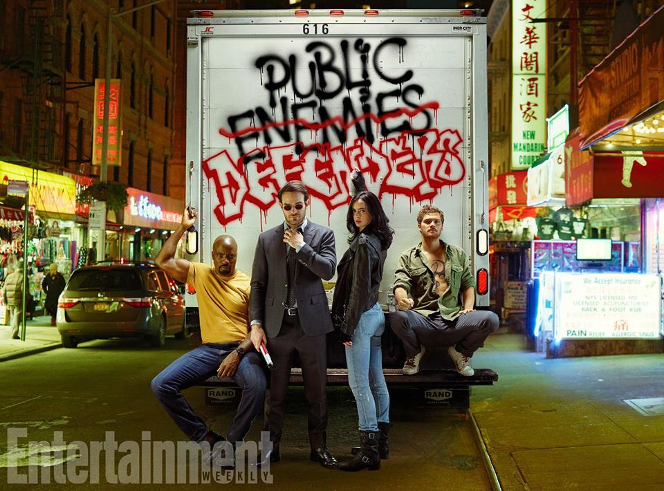 Снимки към предстоящия сериал The Defenders