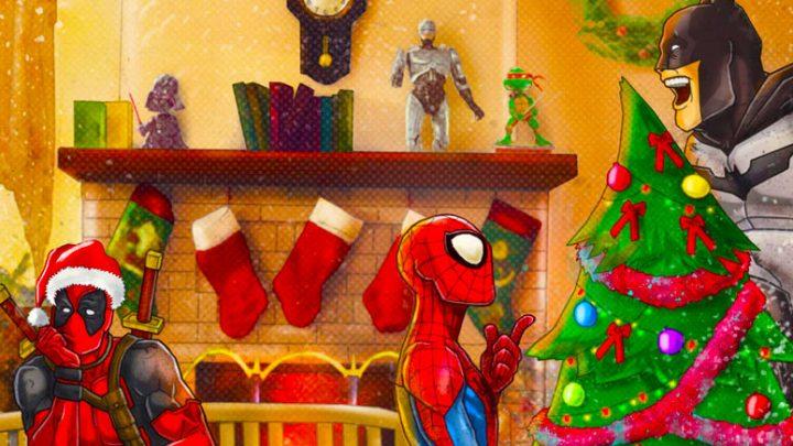 Коледни епизоди на супер геройски анимации